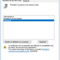 Sécurité : empêcher l'ouverture de session local sur les serveurs Windows