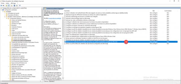 Sélectionner la méthode de récupération des lecteurs systèmes d'exploitation protégés par Bitlocker