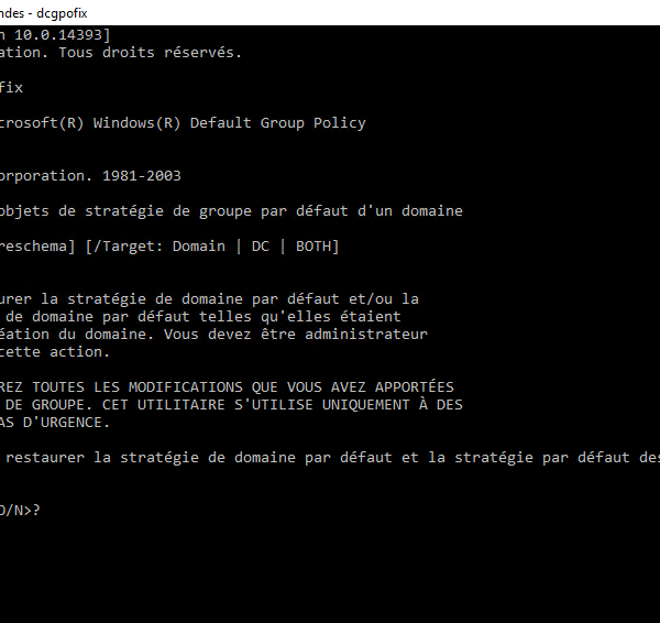 Active Directory: Restore default GPOs Default Domain Policy / Default Domain Controller Policy
