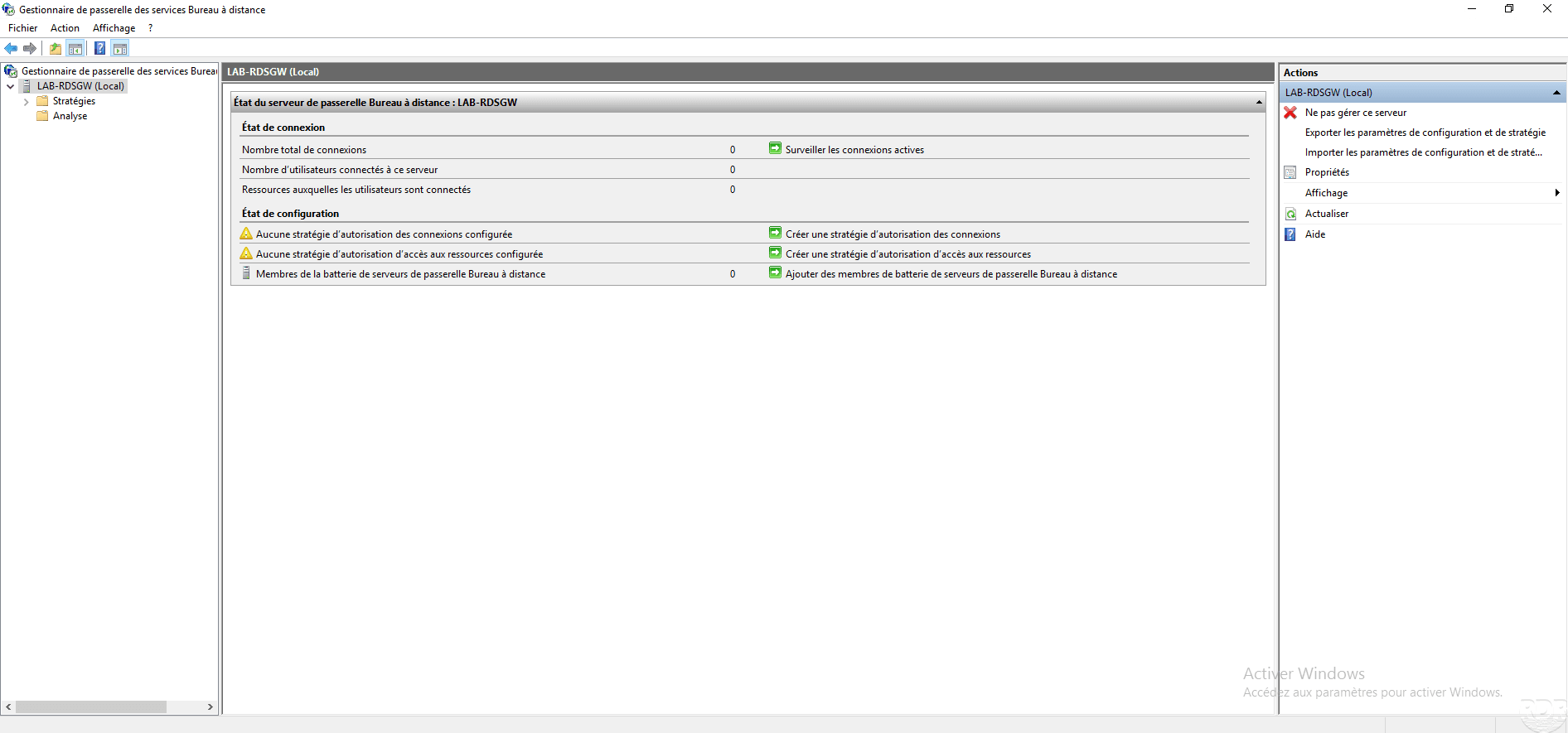 RDS gateway : installation and configuration