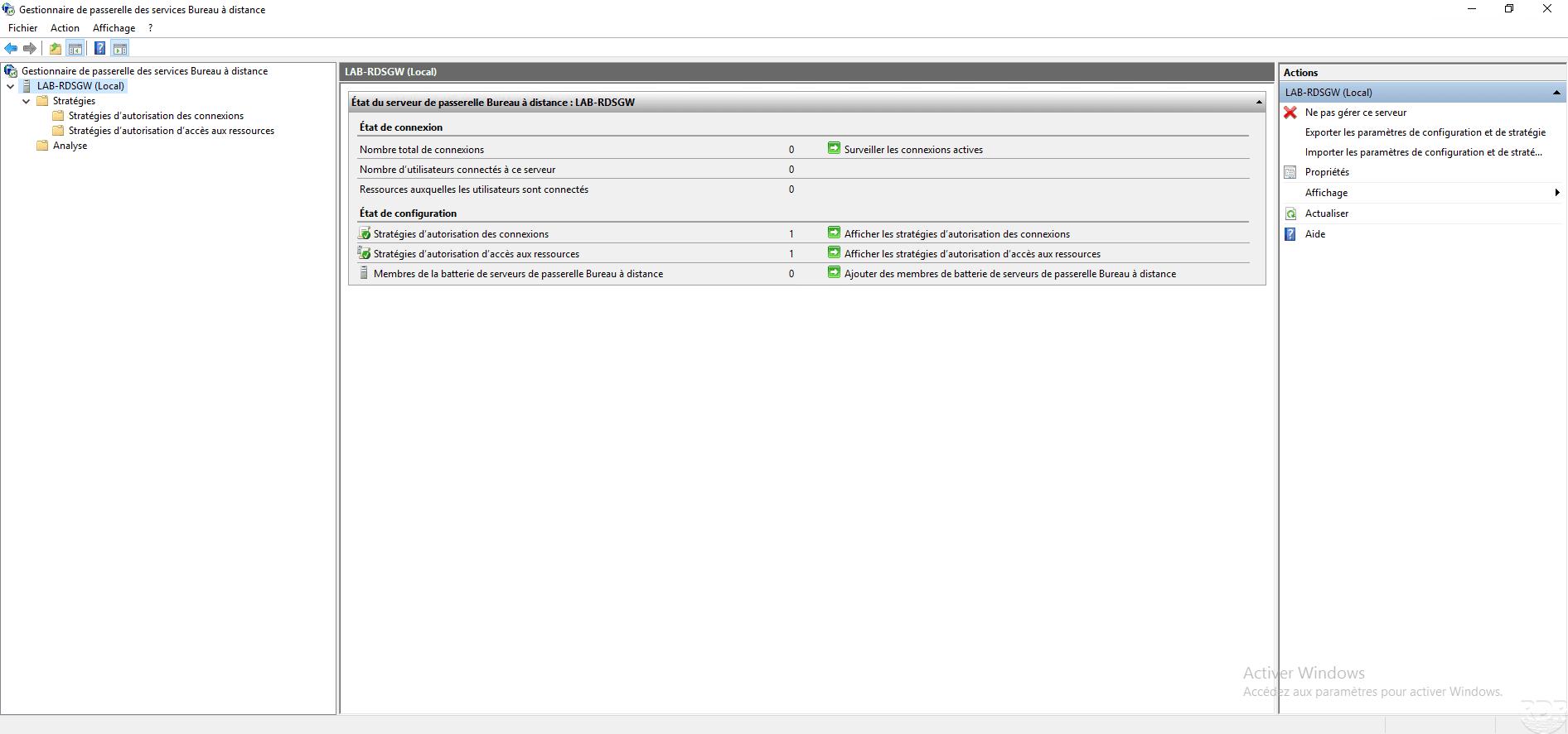 Passerelle RDS : installation et configuration