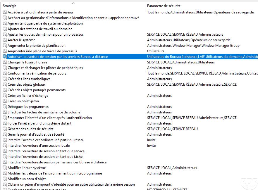 Bureau à distance : configurer qui peut se connecter