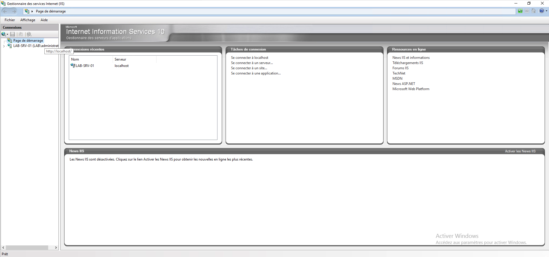 Windows Serveur : installation du rôle IIS – Internet Information Services