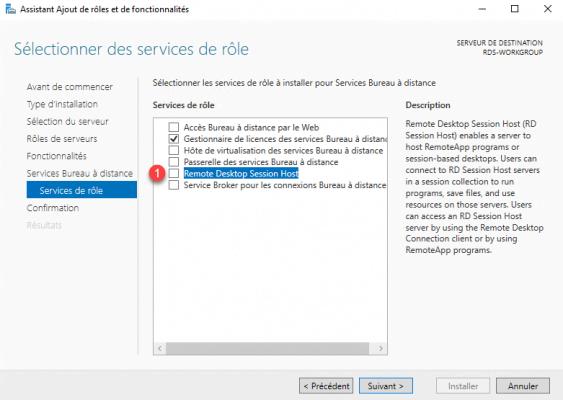 Select Remote Desktop Session Host