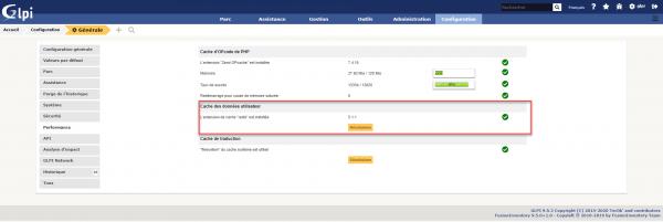 GLPI use Redis for user cache