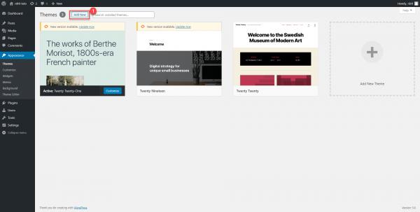 WordPress - Theme Dashboard