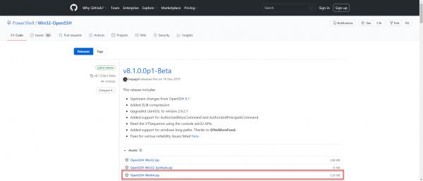 Github Windows OpenSSH