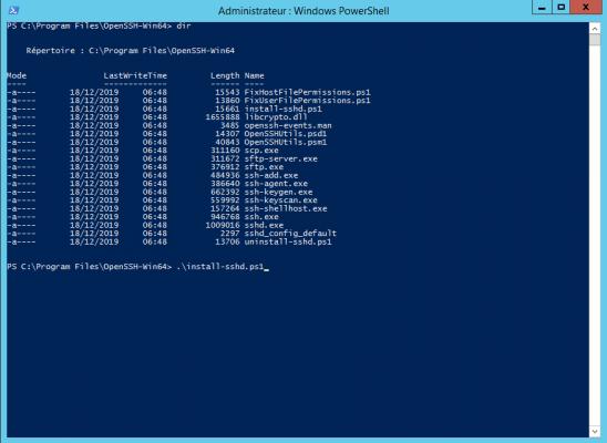 Install OpenSSH Server on Windows