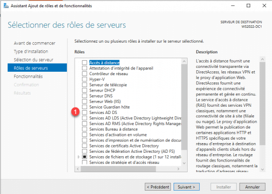 Select AD DS - Active Directory