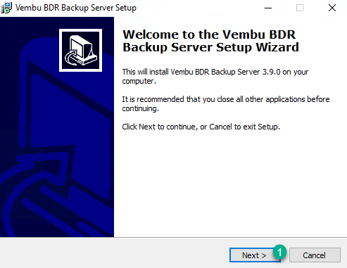 Vembu install step 1