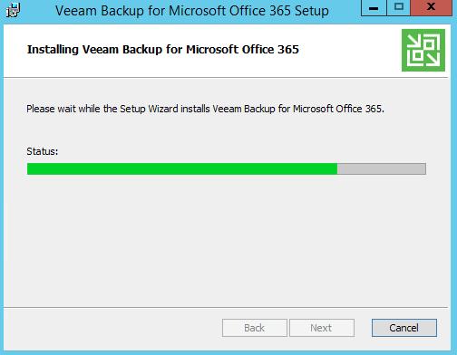 Installation de Veeam Backup Office 365
