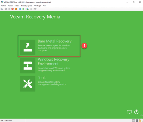 Choix : Bare Metal Recovery