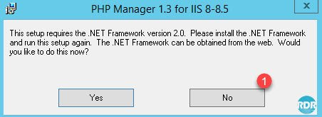 Message d'alerte .NET Framework 2.0