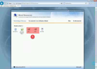 RemoteApp dispo en Web