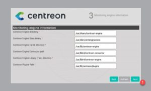 Centreon installation 3/9