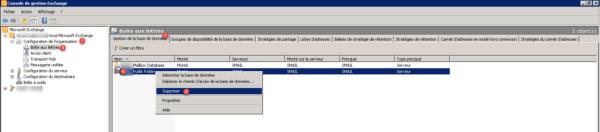 Decommission exchange : suppression base de données dossier public