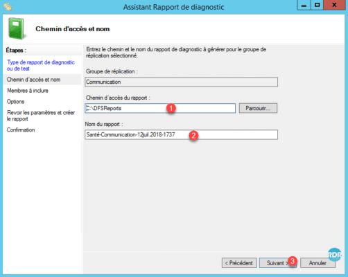 Configuration du rapport