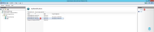 Authentification Windows à activer