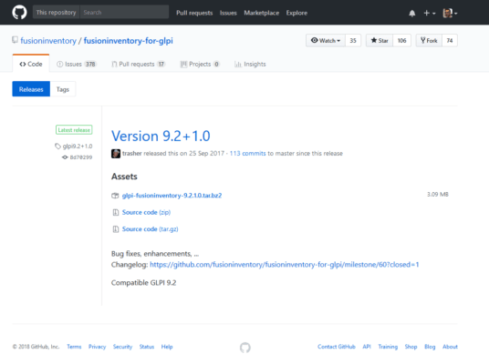 fusioninventory - git page