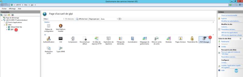 Configuration du site