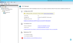 Gestion des extensions PHP