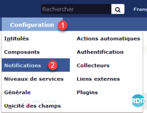 Aller à l'administration des notifications
