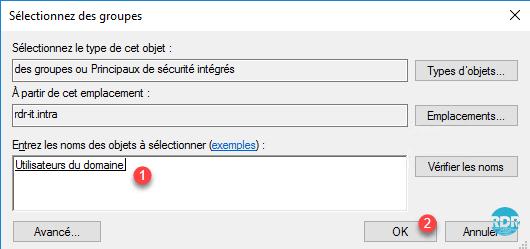 Sélectionner les utilisateurs du domaine