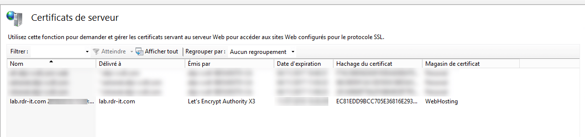 Installing a Let's Encrypt certificate on IIS - RDR-IT