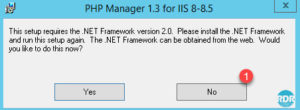 Message d'alerte .NET Framework 2.0