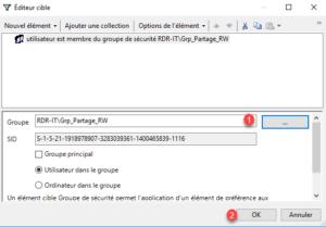 Selection de groupe : Grp_Partage_RW