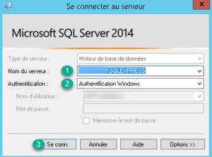 Connexion à l'instance SQL EXPRESS