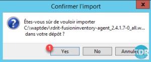 Confirmer l'import