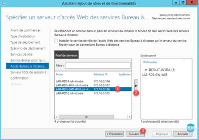 Choix du serveur acces web