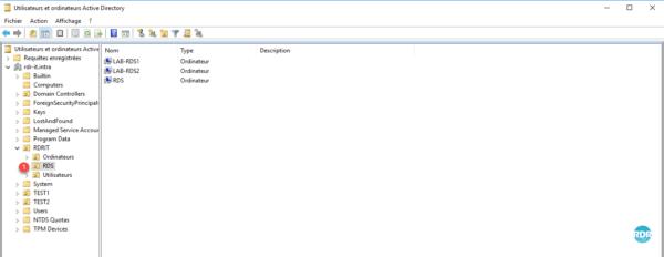 Utilisateurs et ordinateurs Active Directory