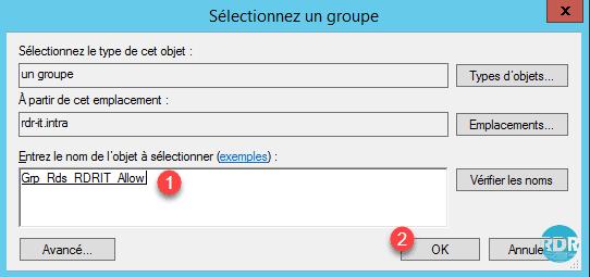 Entrer le nom du groupe