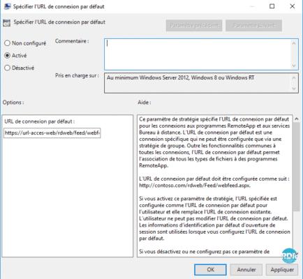 GPO automatisation RemoteApp
