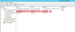 Dossiers de travail : enregistrement DNS