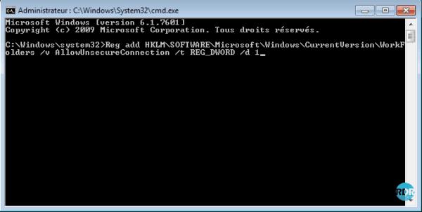 Commande pour autoriser le protocole HTTP