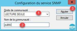 SNMP : Configuration communauté