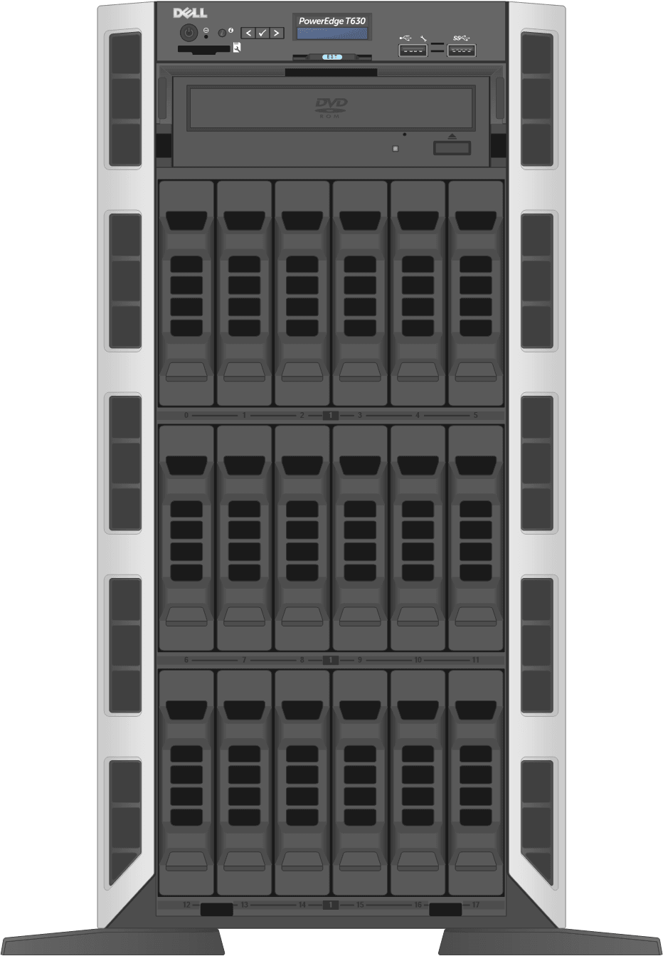 dell-poweredge-towerservers_T630-18D-Front-Open