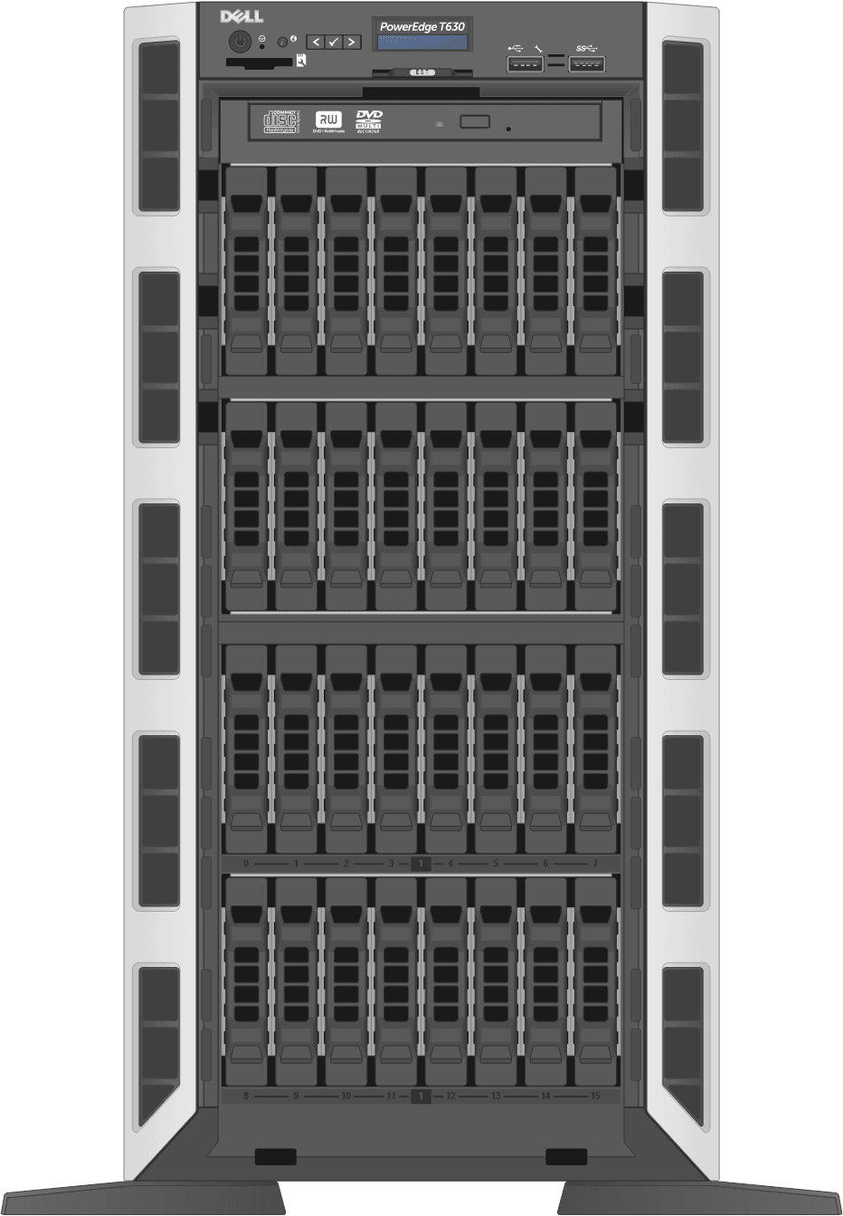 dell-poweredge-towerservers_T630-32D-Front-Open
