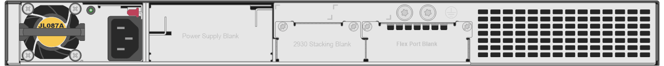hpe-networking-2xxx-switches_JL320A-Aruba-2930M-24G-PoE-1-slot-Switch-rear
